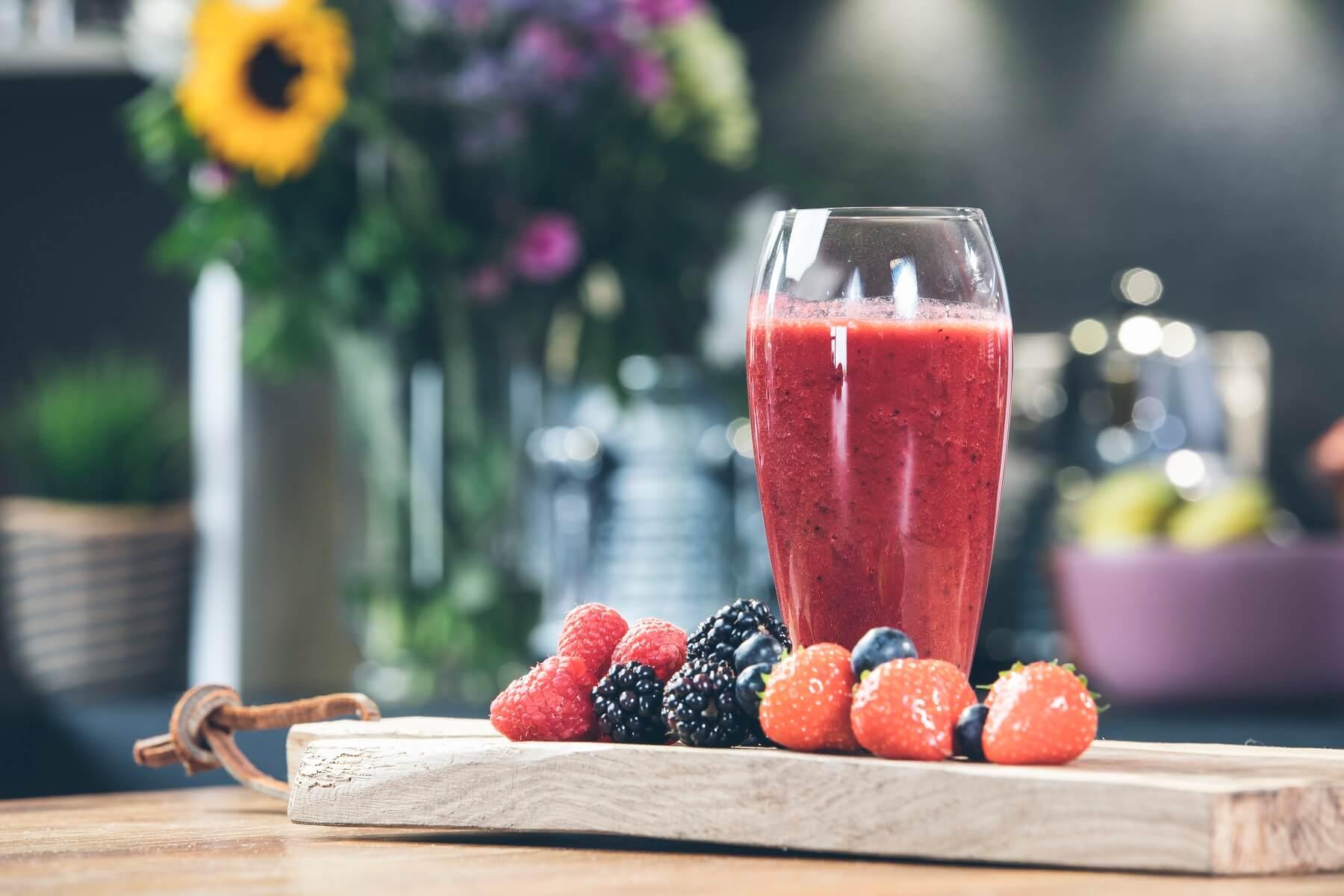 Antioxidant blast with blueberries, blackberries, raspberries and strawberries