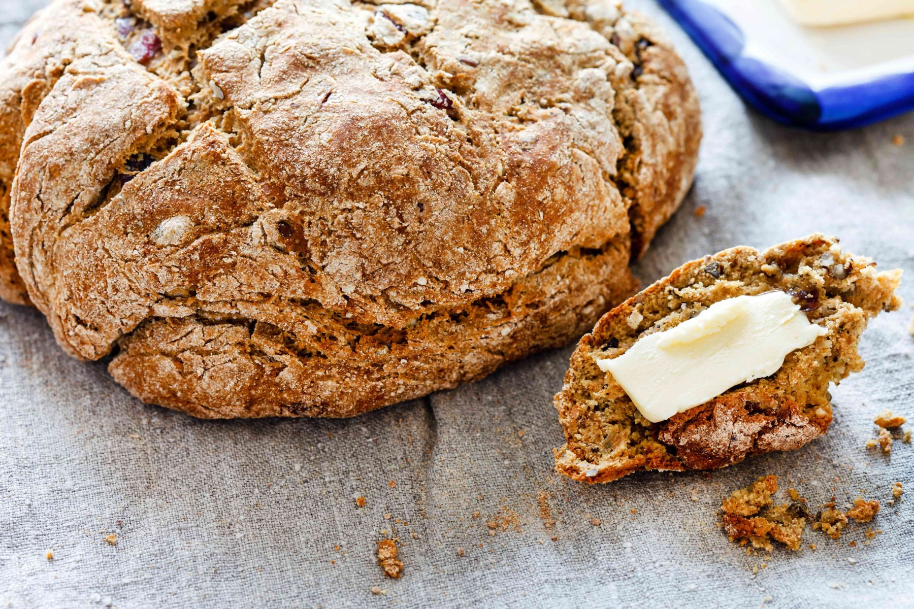 Wheaten Bread with melted butter